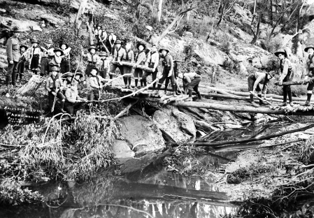 Bridge Building at Camp Coutts, 1st Annandale, Leichhardt
