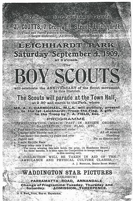 1909 Boy Scout Parade Notice