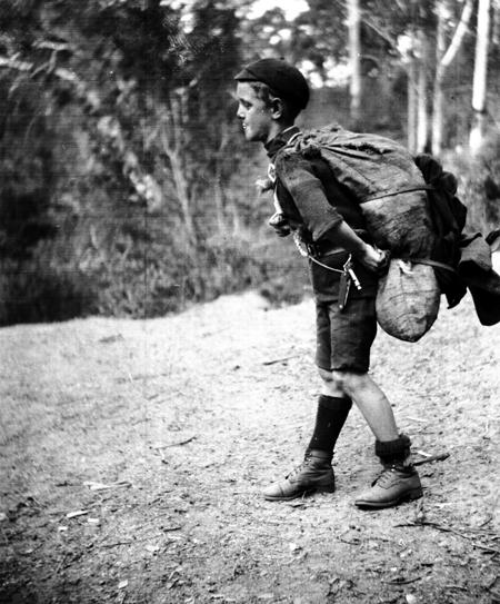 Boy Scout with Sugar Bag
