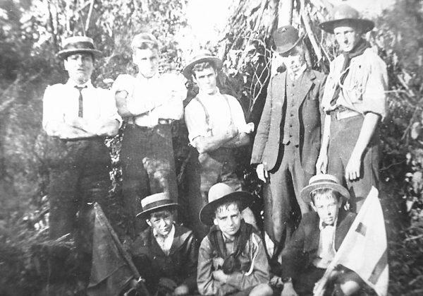 Boy Scouts at Ramseys Bush 1908
