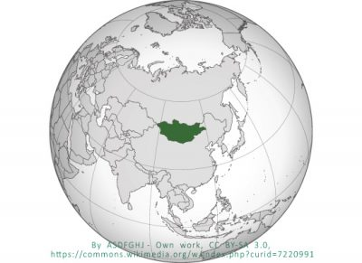 Mongolia Orthographic Projection
