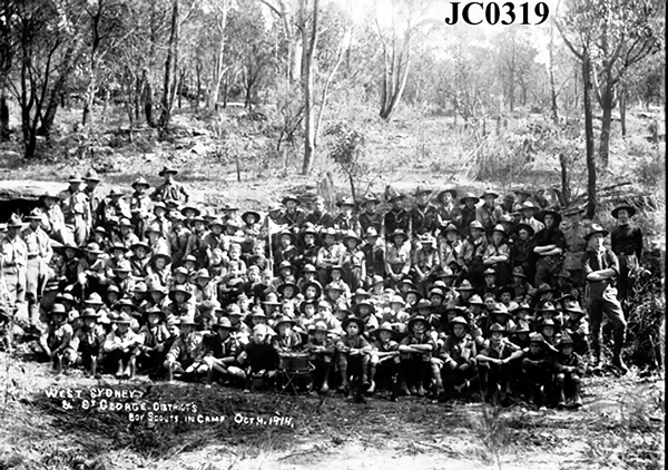 West Sydney & St George Districts Boy Scouts in Camp Oct 4 1914