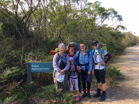 Bundeena to Otford Hike with Scout Leaders, Claudia and Victoria.
