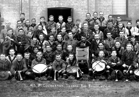 """1st & 2nd Leichhardt Troops. Boy Scouts 6-6-14"""