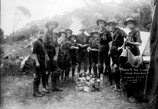 Come To The Cook House Door Boys, Smas Camp, 1917. Image j.X. Coutts