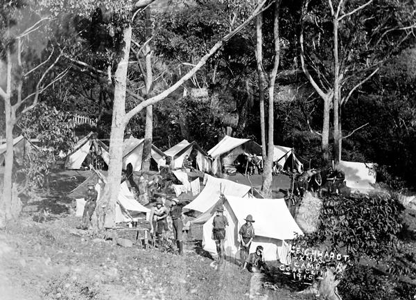 Leichhardt Xmas Camp, Coalcliff, 1915